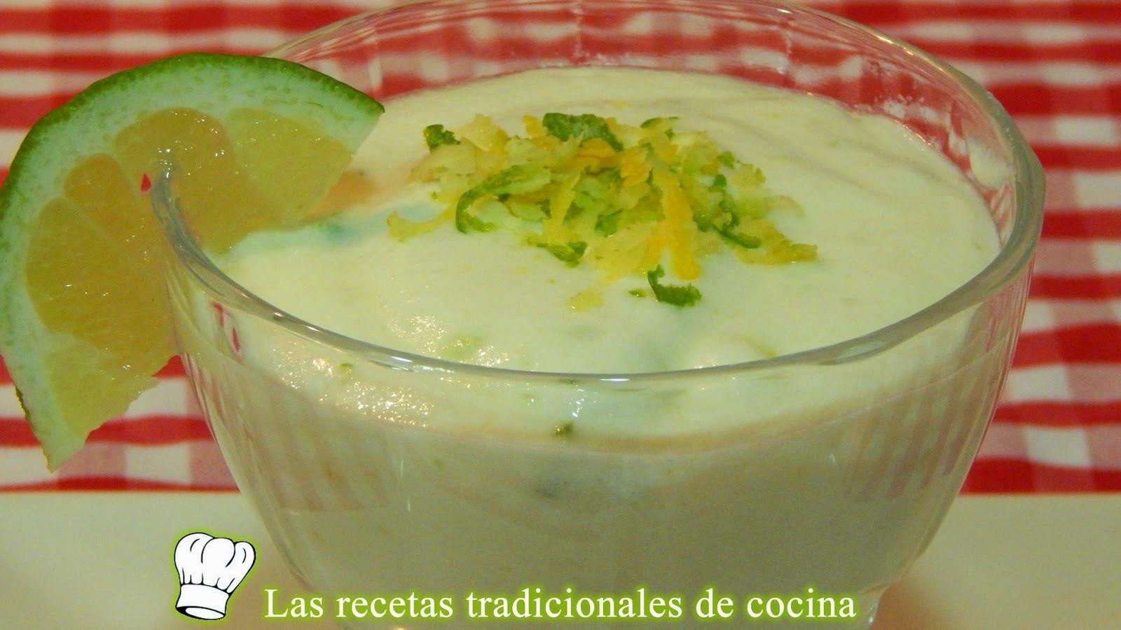 Receta fácil de mousse de limón