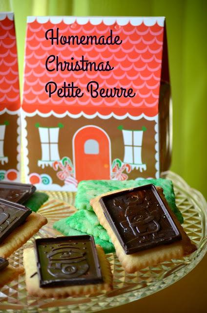 Σπιτικά Petite Beurre με κουβερτούρα σε χριστουγεννιάτικη διάθεση!