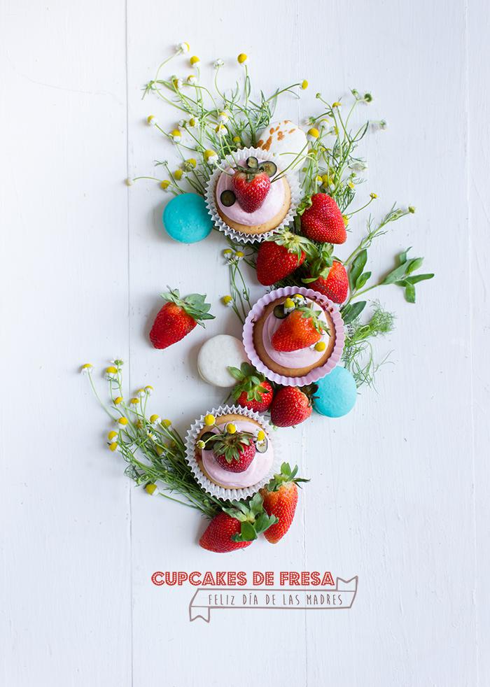 Cupcakes de Fresa para el dia de las madres
