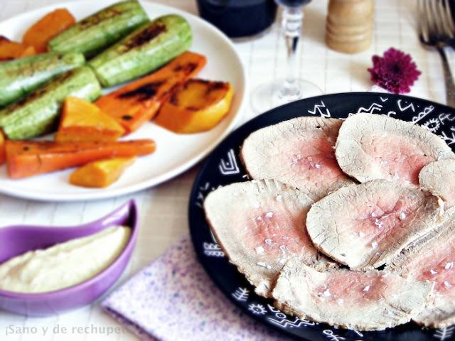 Receta de verano: peceto frío con verduras a la plancha