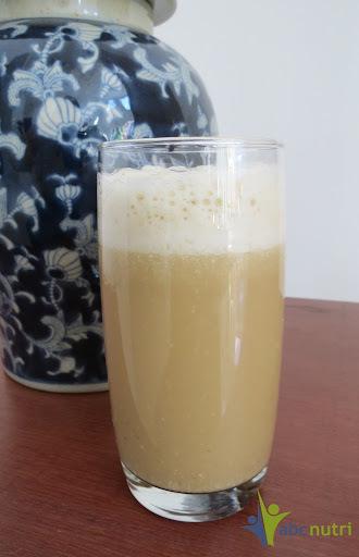 suco de inhame e abacaxi