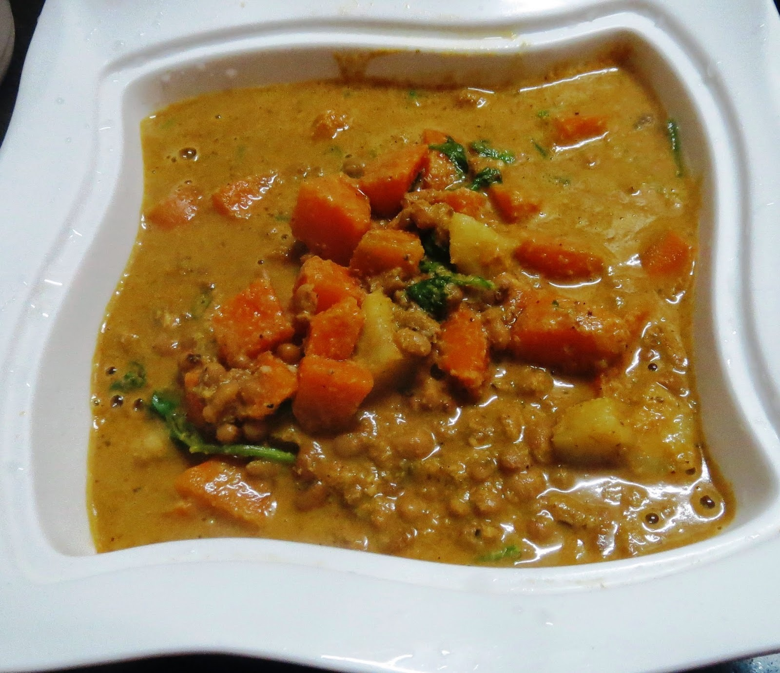 Carrots-Sweet Potato- Alasande Curry