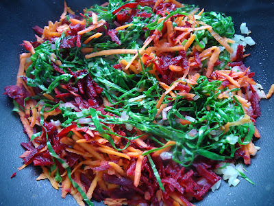 farofa de cenoura com beterraba