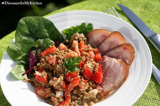 Lentil and ham hock spring salad