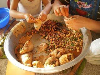 Recette d'osbâne, panse d'agneau farcie (cuisine algérienne, Algérie)