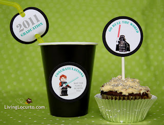 Free Star Wars cupcake printables