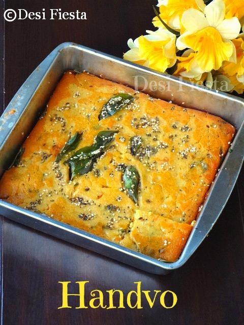 Handvo (Baked Gujarati Savory Cake)