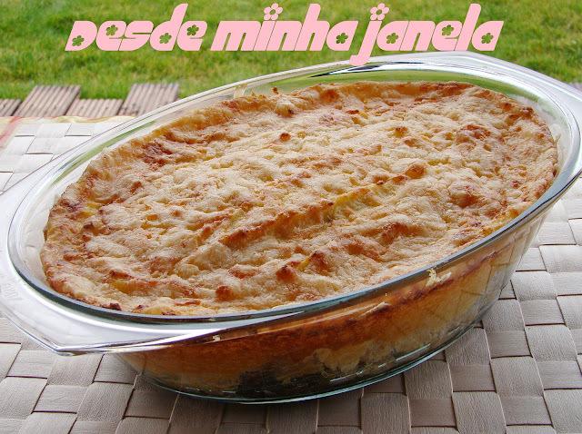 Torta de peixe e espinafre