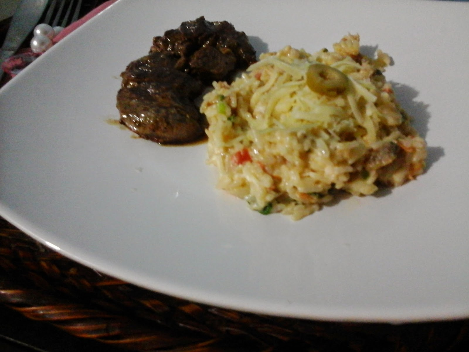 arroz cremoso com maionese