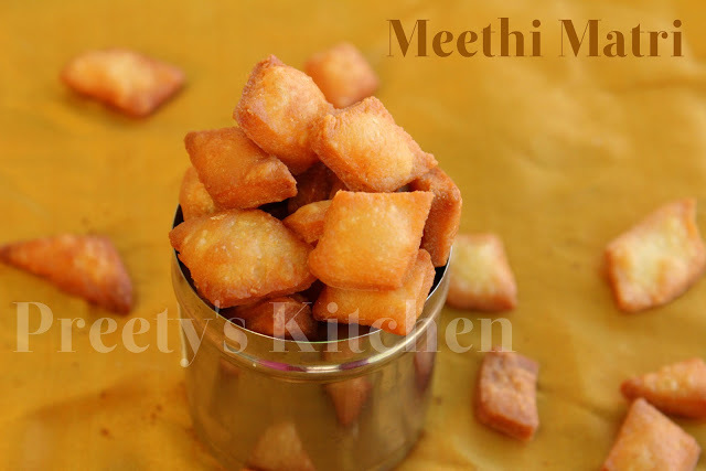 Meethi Matri / Indian Sweet Snack Crackers ( With Step By Step Pictures)