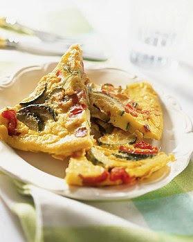 Frittata de zucchini y pimientos