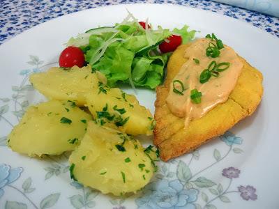 de filé de peixe frito crocante