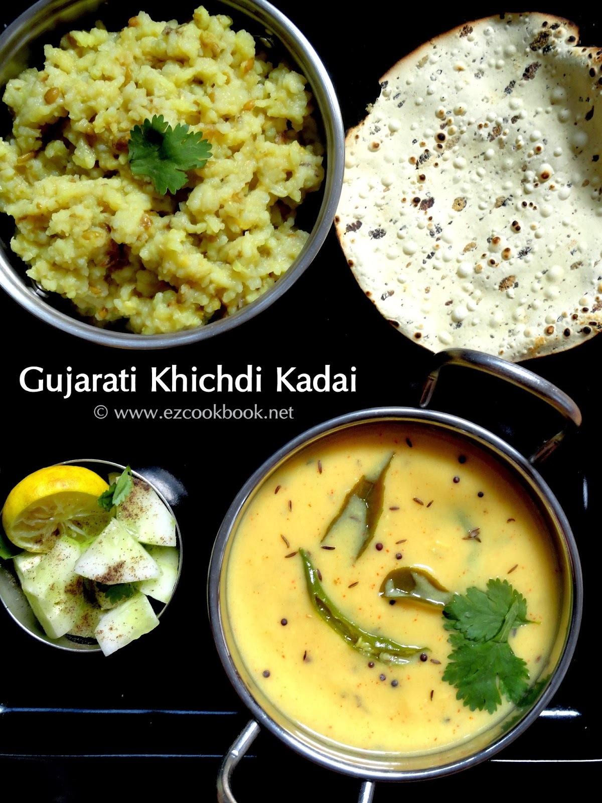 Gujarati Khichdi Kadhi