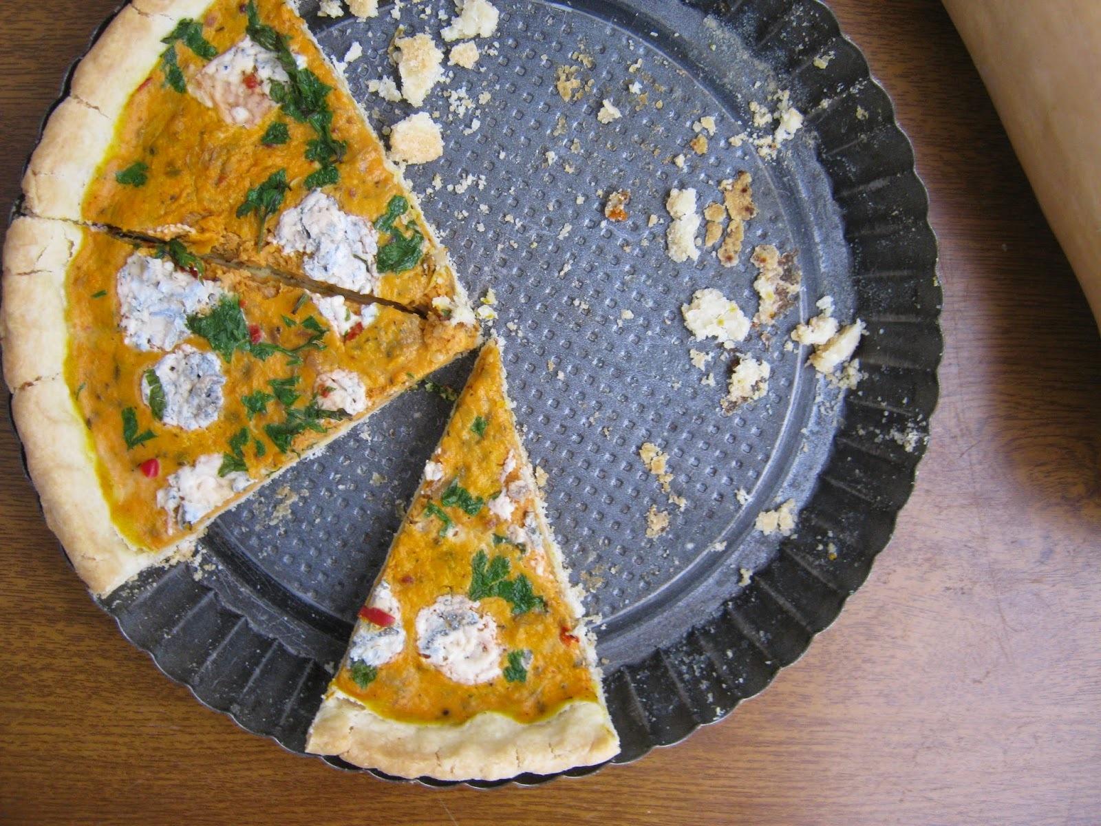 Pikantný tekvicový koláč s gorgonzolou