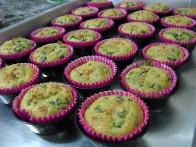Muffins de Espinafre e Queijo