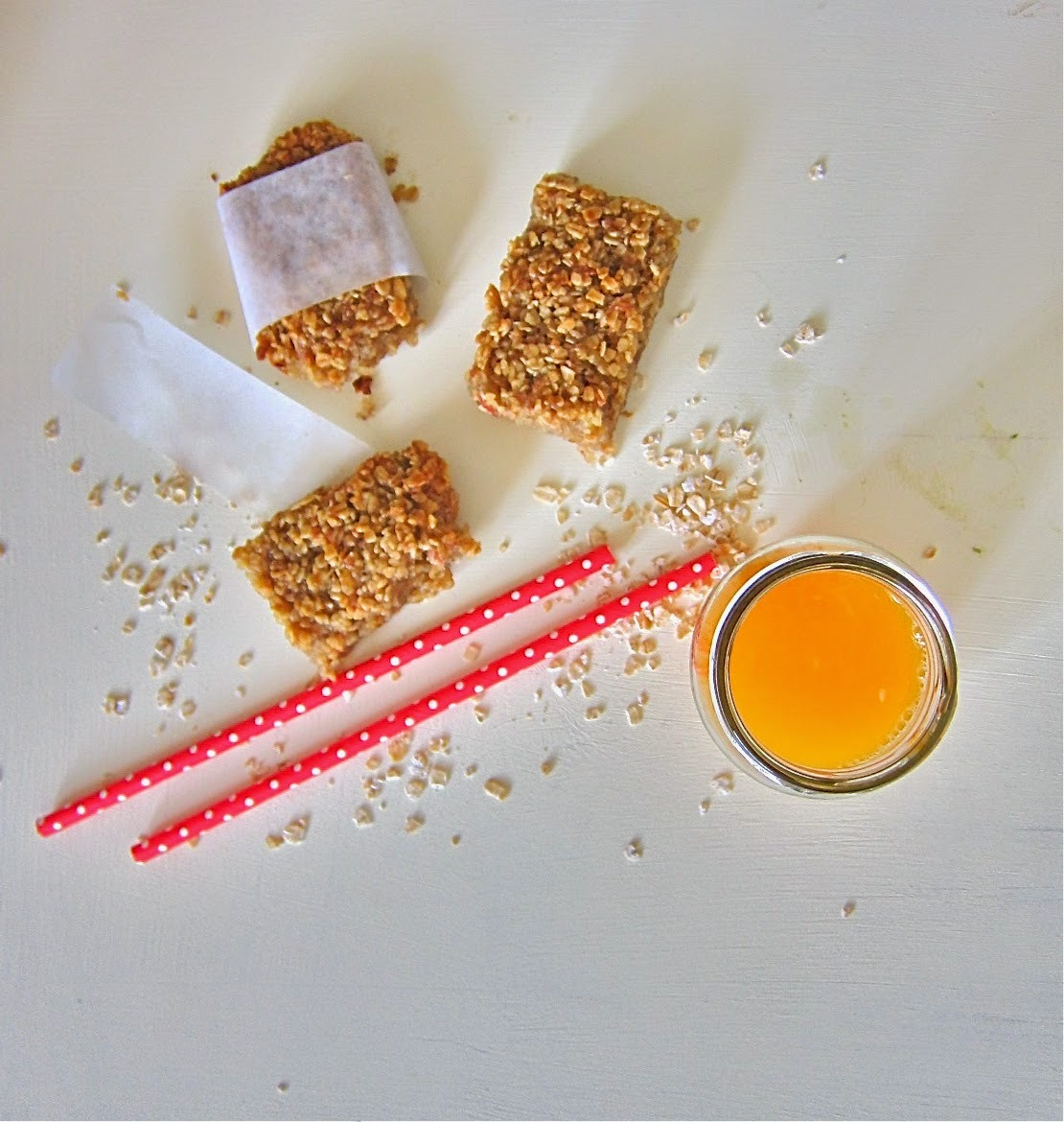 Barritas de avena y plátano / Oat and banana Bars