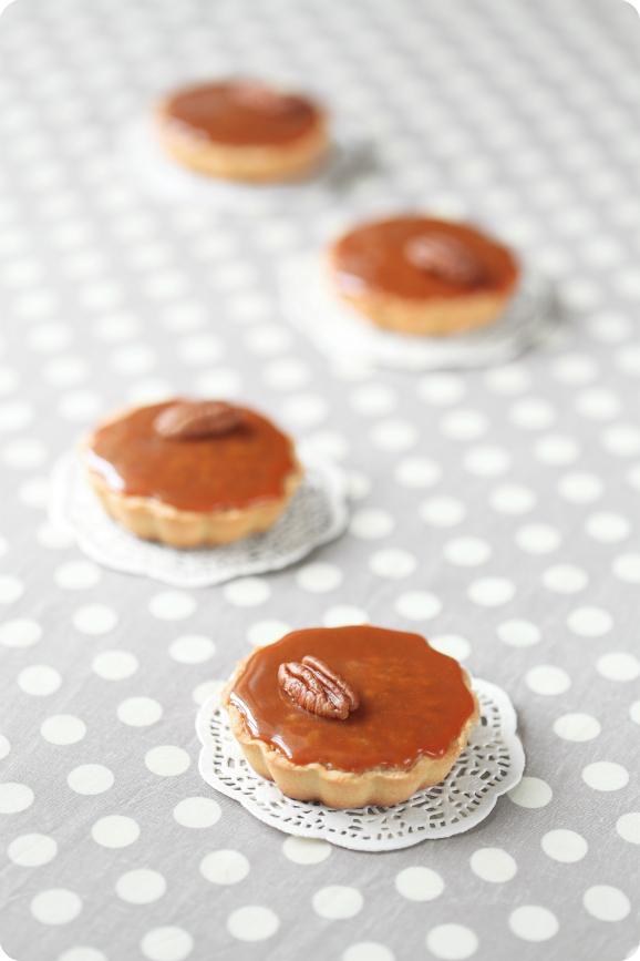 """Пирожные """"Пекан"""" с карамелью / Pastéis de nozes-pecã e caramelo"""