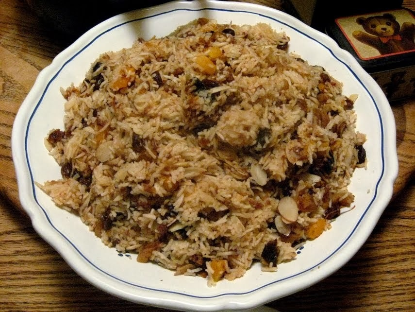 de arroz com damasco e amendoas
