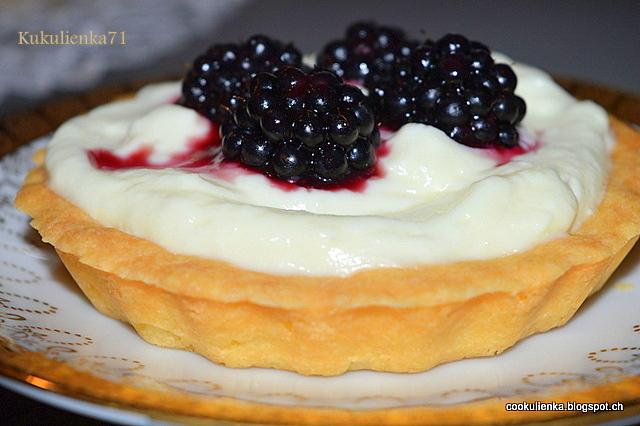 Tartaletky s tvarohovo-ovocnou plnkou