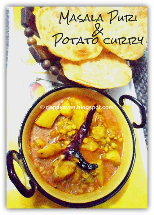 Masala Puri & Runny Potato curry-Kolkata street food joint style