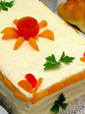 Torta salgada de pão de forma de frango #Quinta-Feira