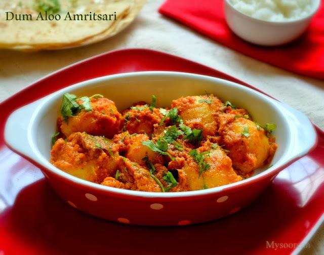 Dum Aloo Amritsari - Baby Potatoes in Gravy
