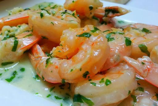 krevety těstoviny