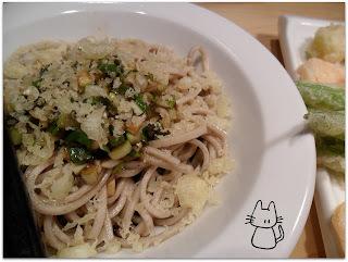 Daring Cooks #1 - Nouilles soba, sauce épicé et tempura