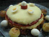 receta yucateca . pastel de patatas