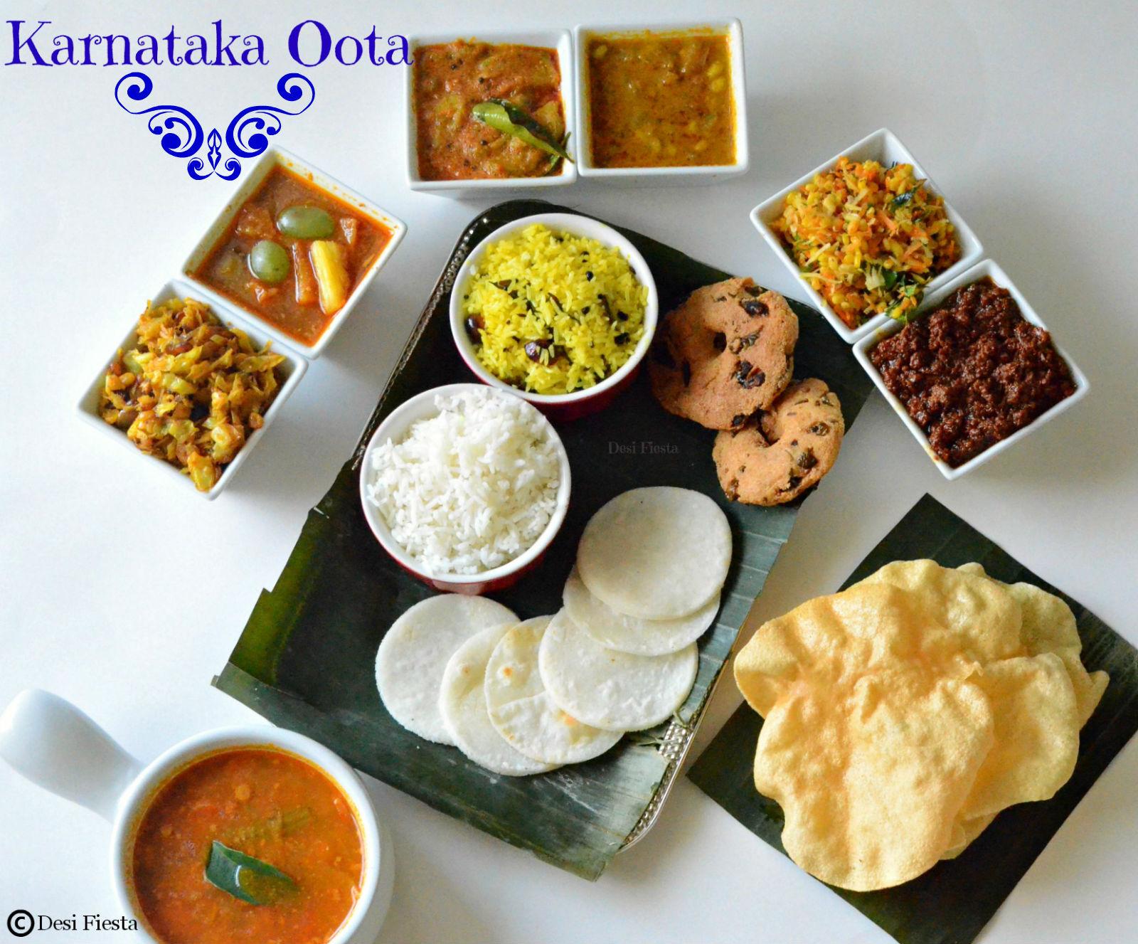 Karnataka Oota |Kannadiga Oota |Kannada Thali