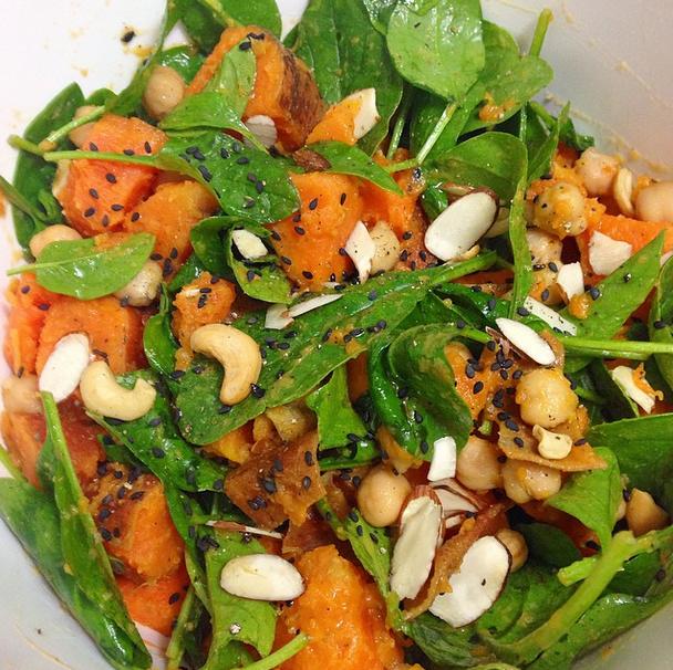 Warm Kumara Salad