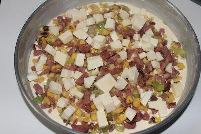 Torta de Bacon com alho poró