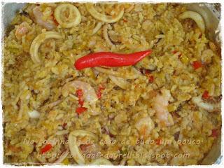 Arroz com Frutos do Mar para o Jantar de Aniversário do Blog Pecado da Gula