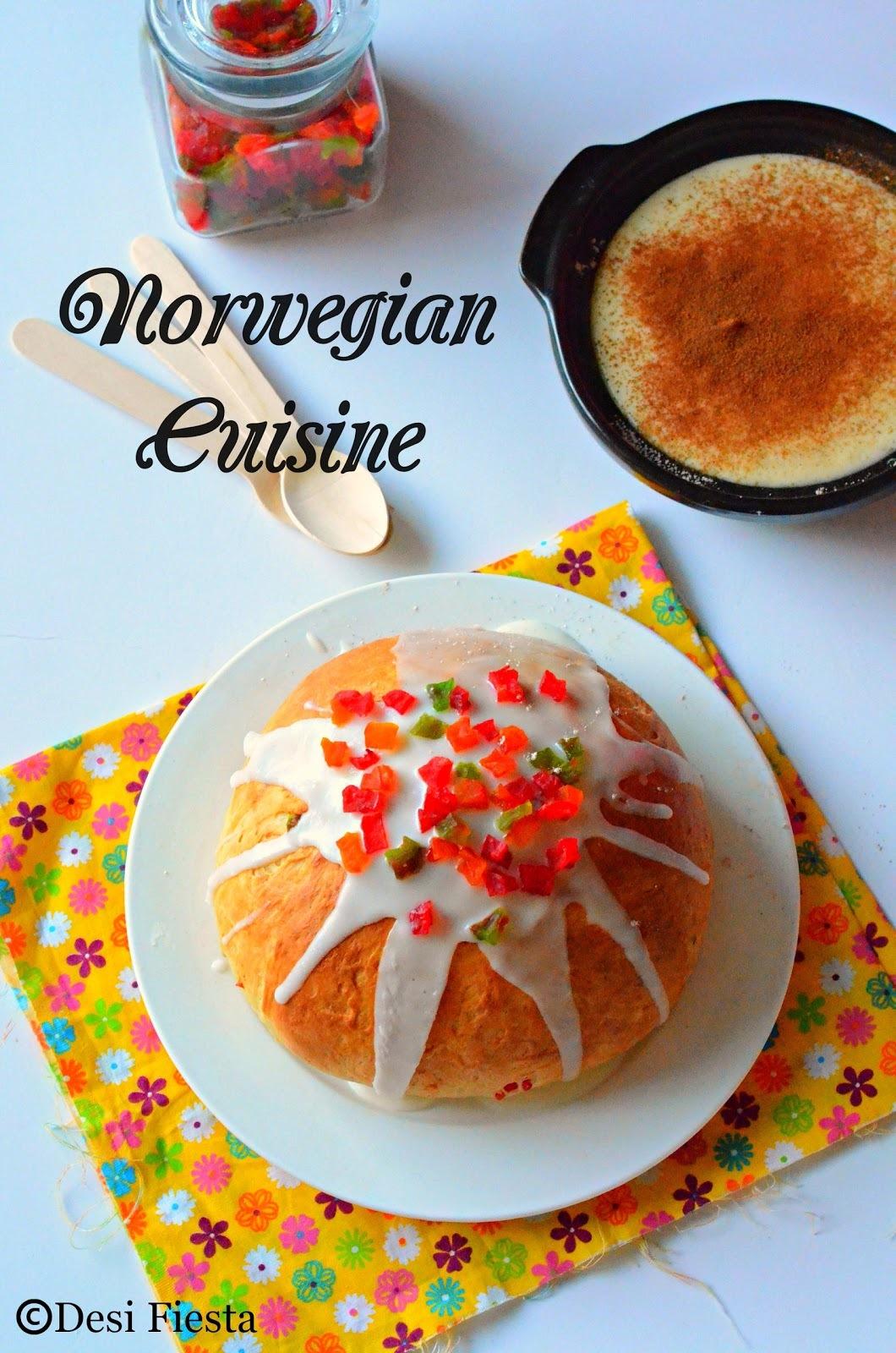 Julekage (Norwegian Christmas Fruit Bread) |Rommegrot (Norwegian Cream Pudding) ~ Norwegian Cuisine