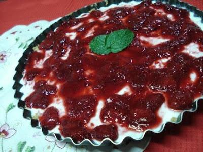Cheesecake de Ricota e Morangos