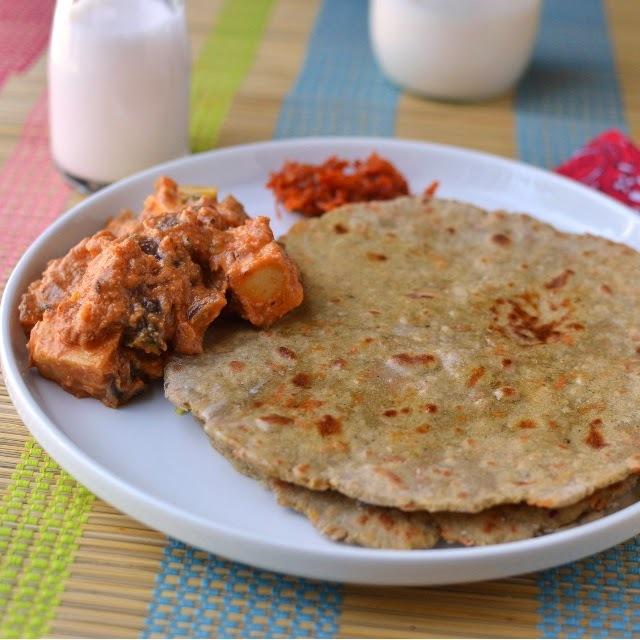 Haryana -- Bajre ki Roti & Paneer Do Pyaza