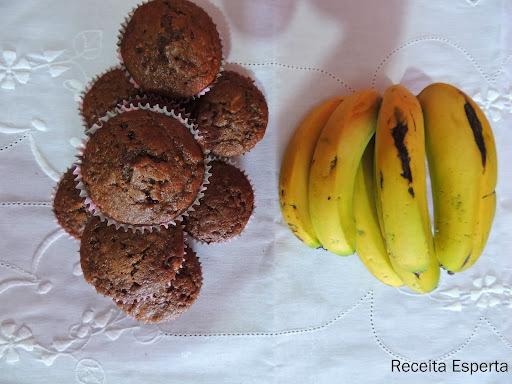 MUFFINS DE CHOCOLATE E BANANA DA NIGELLA