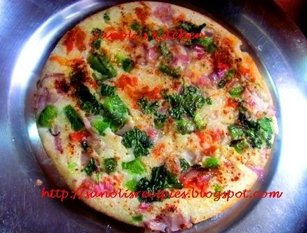 VEGETABLE UTTAPAM & WINNER'S GIVEAWAY FROM CUSINE DELIGHTS