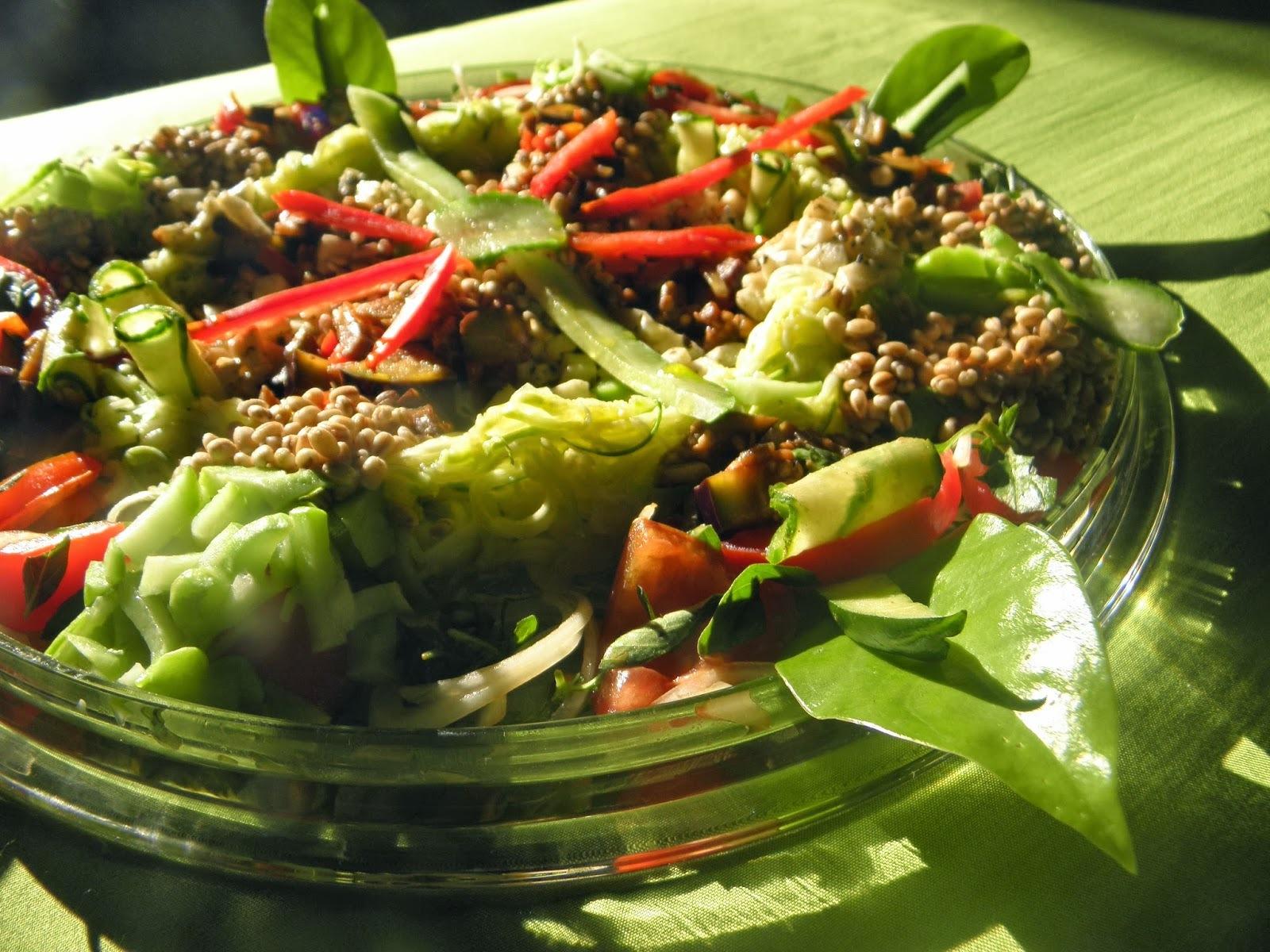 Mandala de legumes marinados