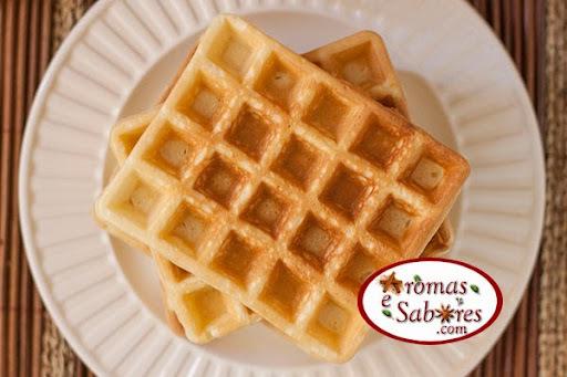 Receita básica de massa de waffles