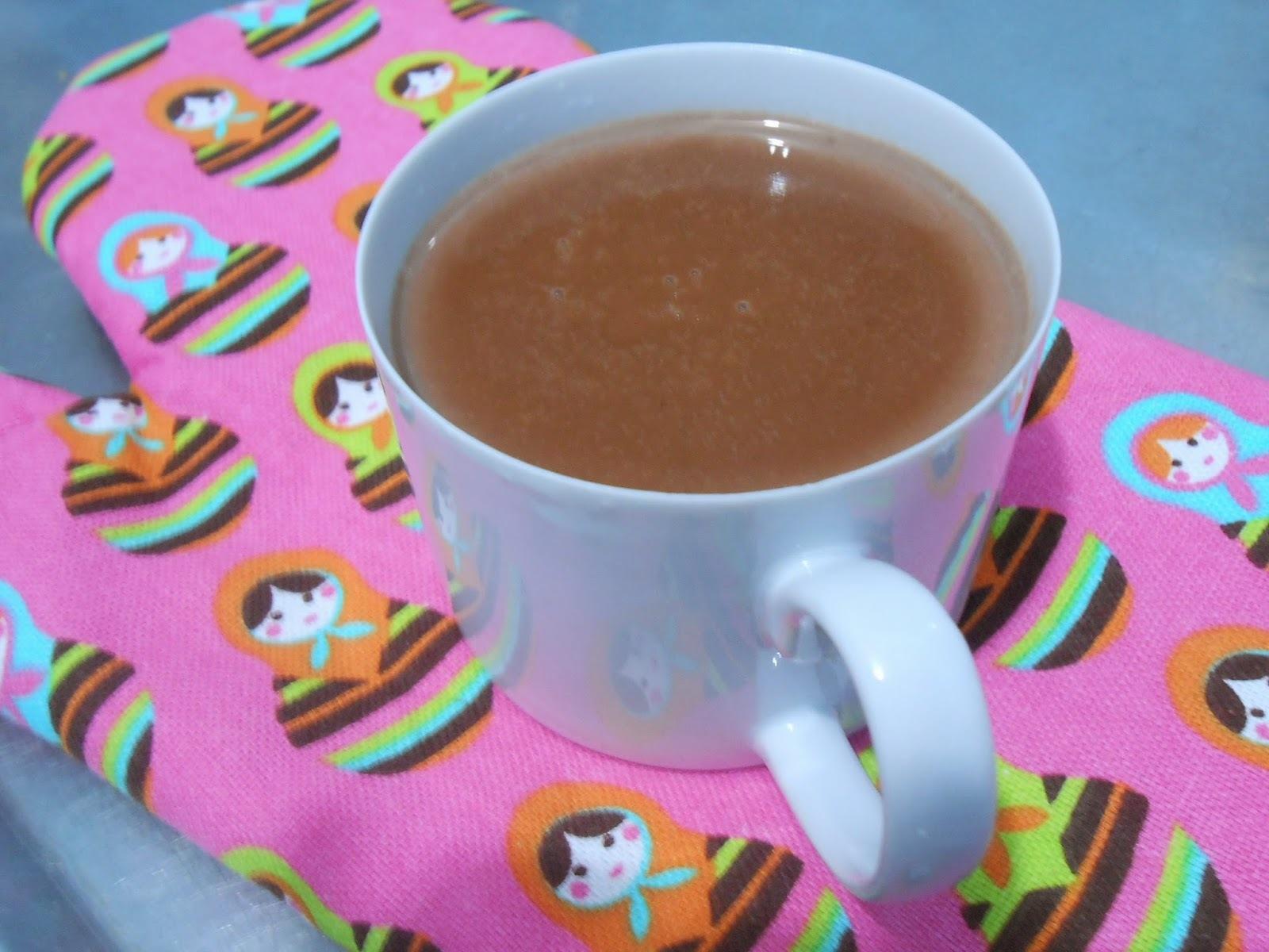 chocolate quente em grande quantidade