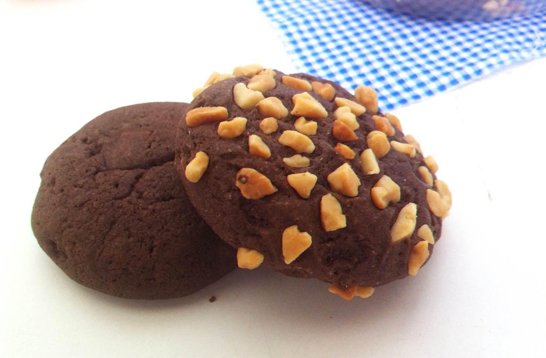 Cookies de Chocolate Duplo (Chocolate em pó + Chocolate picado)