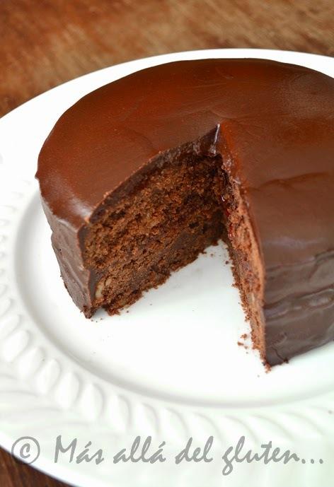 Torta de Chocolate sin Huevos (Receta GFCFSF, Vegana)