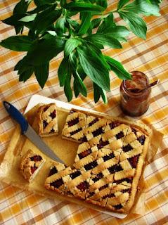 tvarohový koláč s džemom