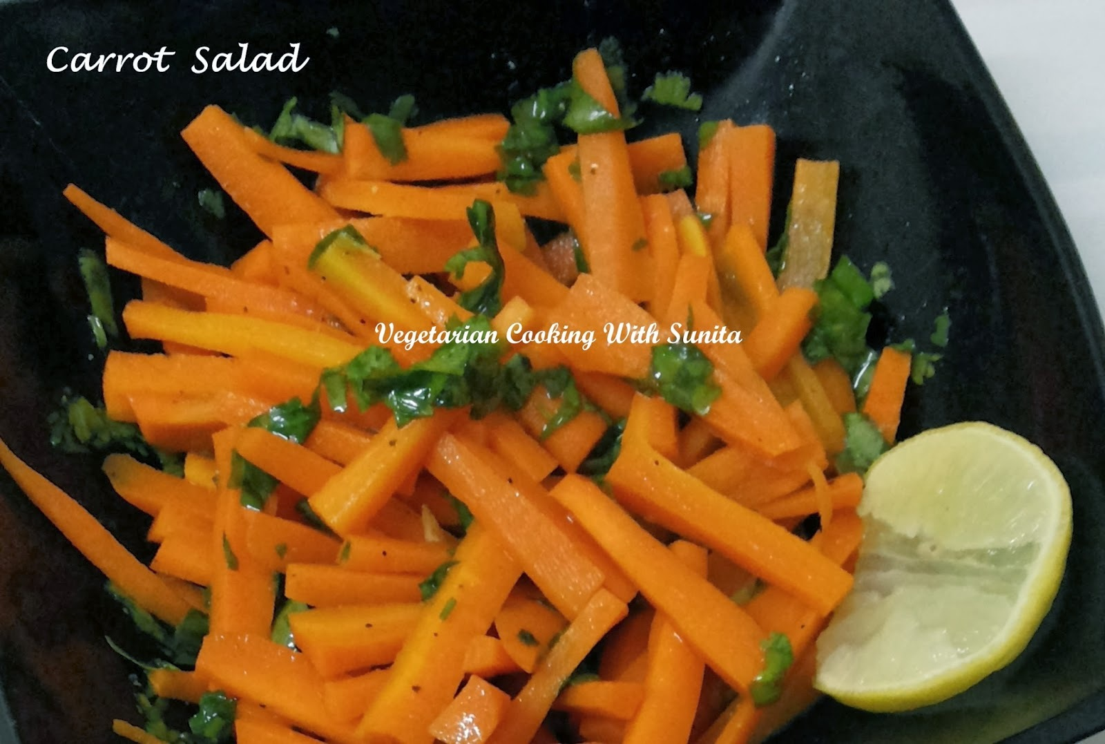 Warm Carrot-basil salad