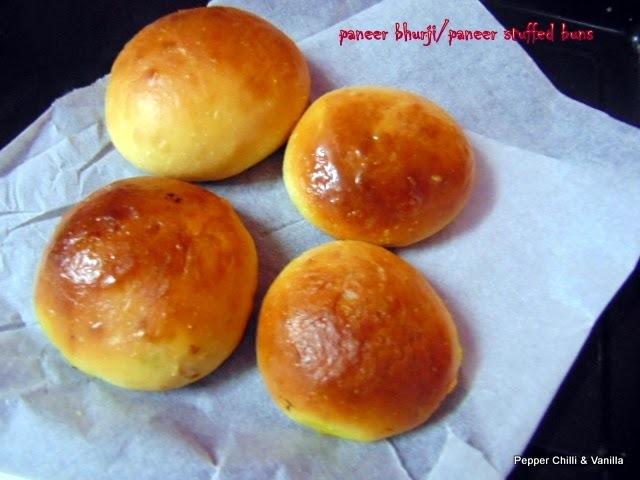 Paneer Burji Buns /Paneer Stuffed Buns