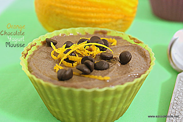 Chocolate Orange Yogurt Mousse | Easy Chocolate Mousse Recipe