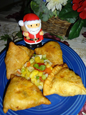 Pineapple samosa