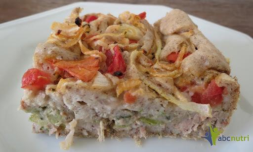 Torta de atum e legumes (sem glúten)