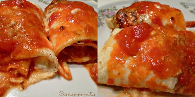 LASAGNA ARROLLADA O GRAN CANELÓN (ricota, jamón, queso, y nuez)